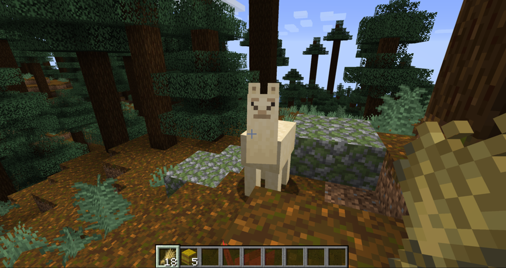 How To Tame a Llama In Minecraft 1