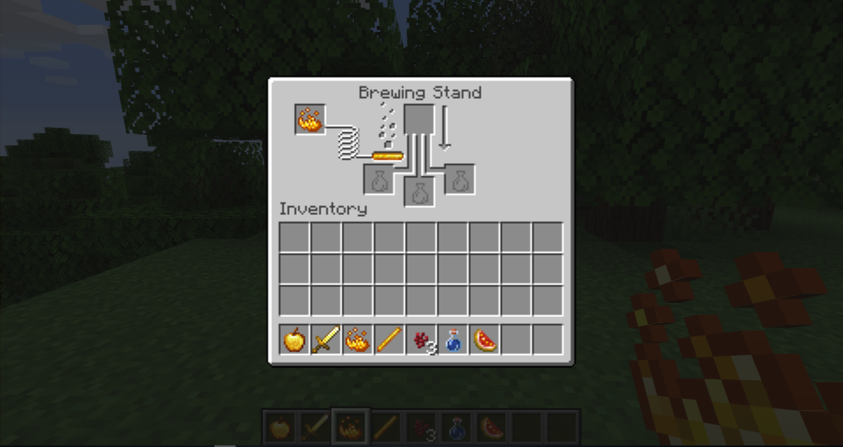 How to Make a Potion In Minecraft step 1