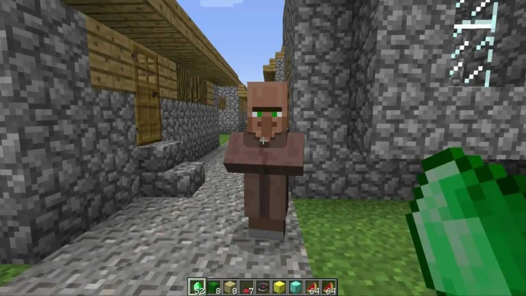 Trading for a saddle with a villager